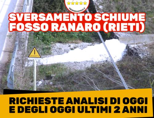 Fosso Ranaro a Rieti, le analisi Arpa identificano i responsabili dell'inquinamento