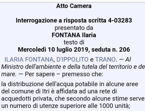 """LO """"STRANO""""CASO DI ITRI FINISCE IN PARLAMENTO"""