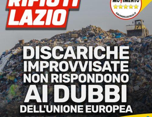 RIFIUTI LAZIO, DISCARICHE IMPROVVISATE NON RISPONDONO AI DUBBI DELL'UNIONE EUROPEA