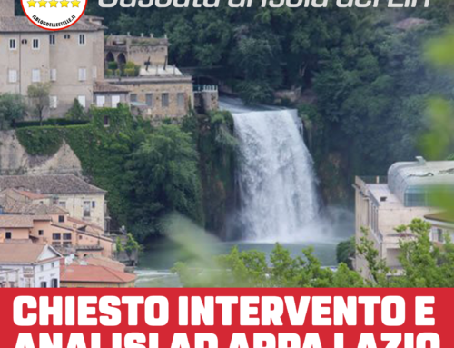 CASCATA DI ISOLA DEL LIRI – CHIESTO INTERVENTO ARPA LAZIO PER SCHIUMA NELLE ACQUE