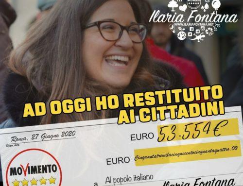 AD OGGI HO DONATO 53.544 EURO AI CITTADINI