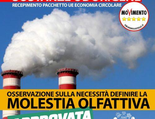 Sostanze odorigene, definizione di molestia olfattiva tra le osservazioni al recepimento del pacchetto UE economia circolare