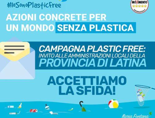 CAMPAGNA #PLASTICFREE: INVITO ALLE AMMINISTRAZIONI LOCALI DI #LATINA