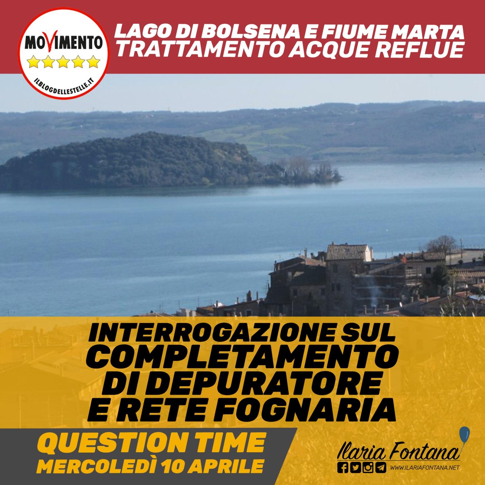 Lago di Bolsena e fiume Marta, interrogazione immediata in Commissione Ambiente