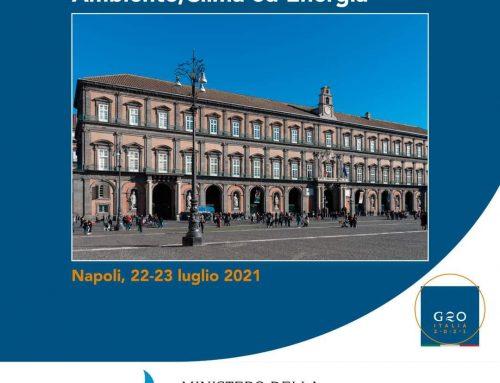 """""""G20 Ambiente, Clima ed Energia"""" la grande ambizione dell'Italia"""