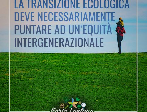 La transizione ecologia deve necessariamente puntare ad un'equità intergenerazionale